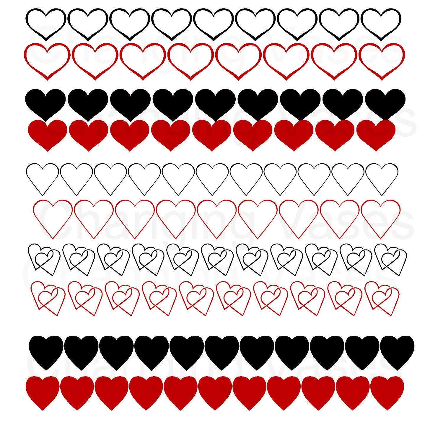 Valentines Day Clipart Border Digital download valentines