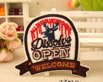 Dissolve Open Welcome Iron On Patch CB169-5