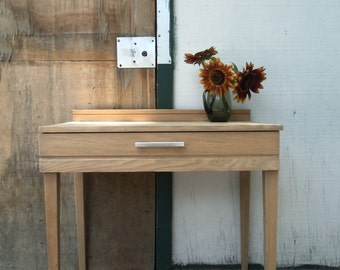 Fab Re-Worked Mid Century Danish Modern White Oak Writing Desk