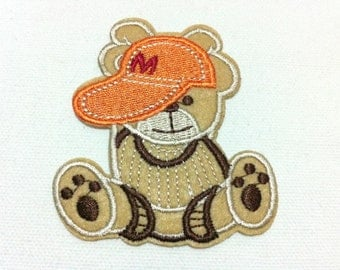 Cutie Bear Animal Patch (7 x 8 cm) Embroidered Iron on Applique Patch (ALT)
