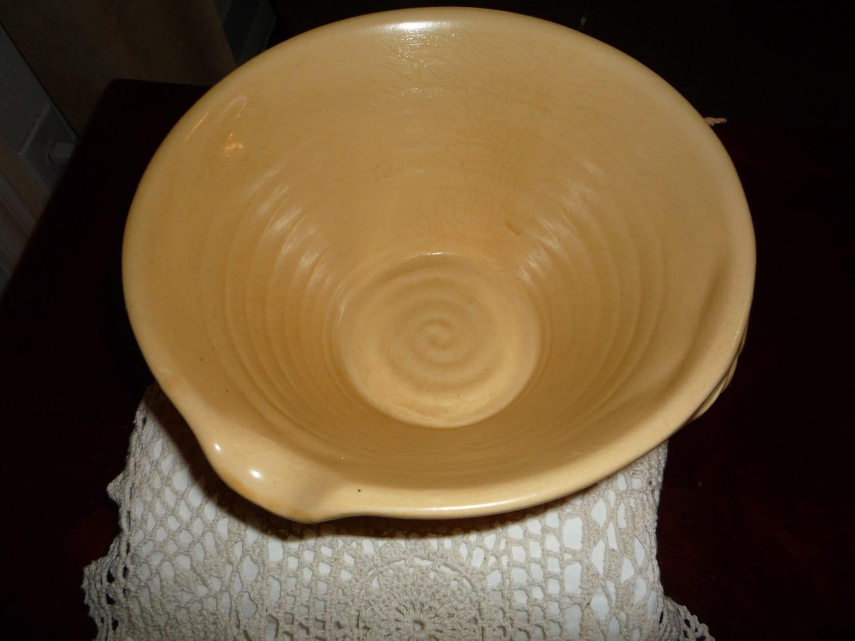 Vintage Yellow Ware Mixing Bowl