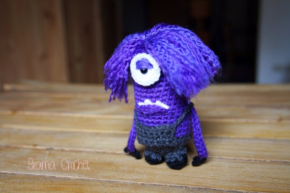 Lila Minion Despicable Me Amigurumi hakeln Puppe