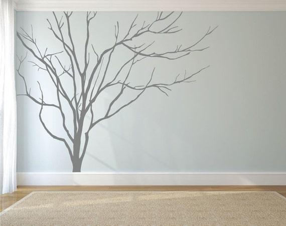 Realistic Winter Tree Wall Decal Headboard Wall by DecaIisland