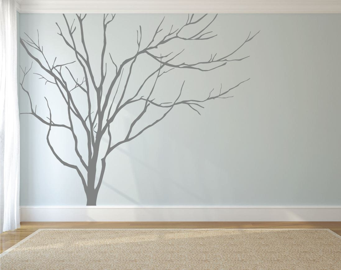 Realistic winter tree wall decal headboard wall decal home zoom amipublicfo Gallery