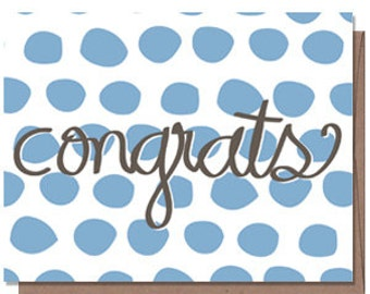 50% OFF SALE! Congrats embossed card w/ envelope