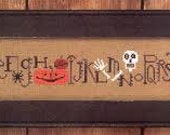 Spooky Row ~ Counted Cross Stitch Pattern by Bent Creek