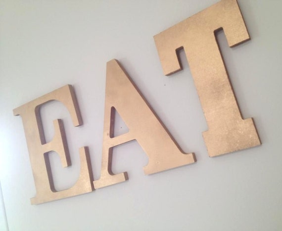 Eat wall art letters wall hanging kitchen decor by for Kitchen letters decoration