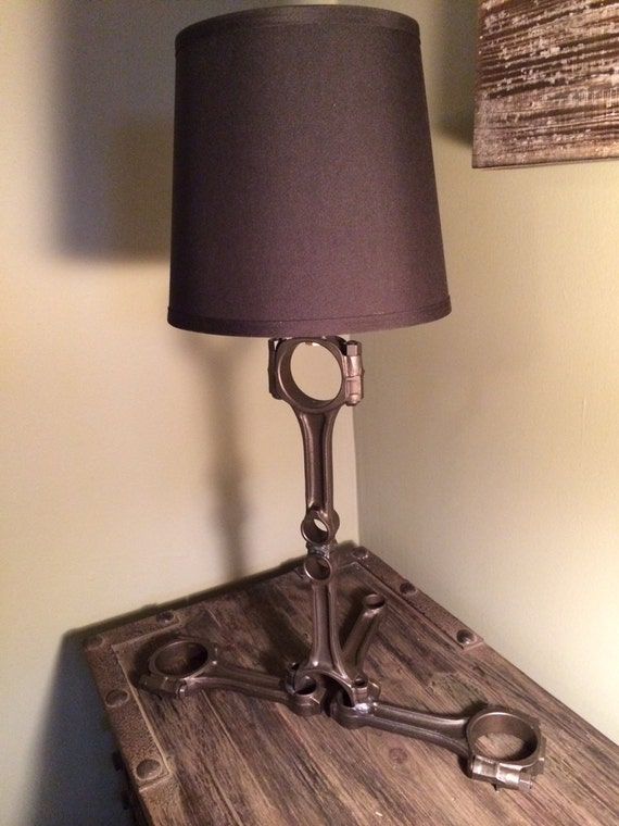 Parts Table Lamp : Hand crafted table lamp using repurposed by hotrodartomotive