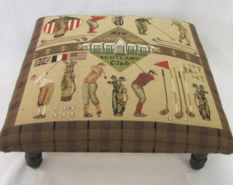 Corona Decor Co. Golf II Woven Footstool