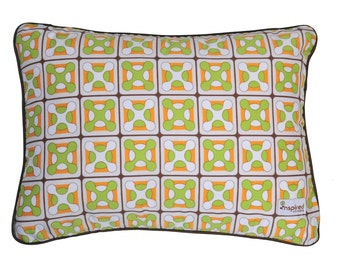 Geox Orange & Green Baby Crib Bedding Nursery Pillow Cover