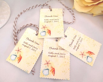Wedding Favor Tags,Brid al Shower Tags, Paper Tags,Gift Tags,Beach ...