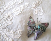 Vintage Mexican Butterfly Brooch