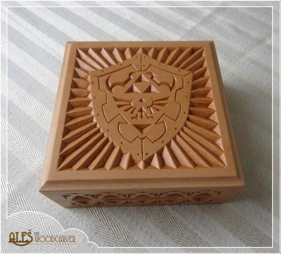 Hylian shield card box trinket legend of zelda fan art
