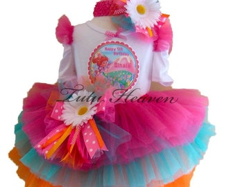 CandyLand Tutu .  Personalized Custom Birthday Tutu Set