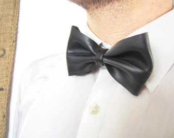 Bow tie made of bicycle inner tube