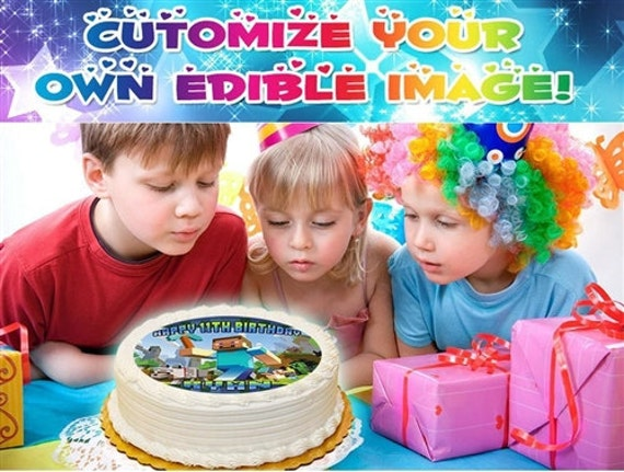 Design Your Own Sheet Cake : Custom DESIGN YOUR OWN Edible Cake Topper Image Frosting Sheet
