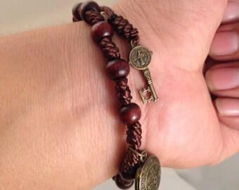 Saint Benedict Bracelet w/medal and Key