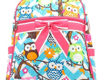 Personalized Quilted Owl Backpack