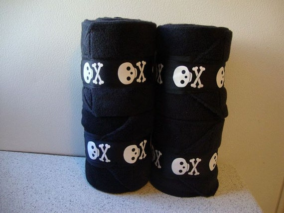 4 Polo Wraps with Skull Ribbon