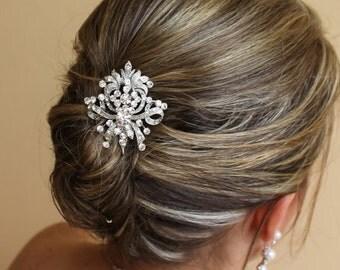 Crystal Bridal Hair Comb, Bridal Hair Accessories, Swarovski Crystal Wedding Hair Comb, Wedding Hair piece
