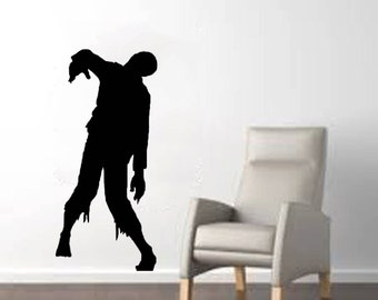 "Scary Zombie Huge Halloween Wall Decal - 22""x 48"""