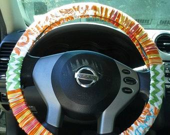 Monogrammed steering wheel cover
