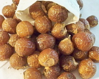 """Organic Soap Nuts,  2015 harvest  Natural Detergent includes a 3""""x4"""" cotton-muslin bag"""