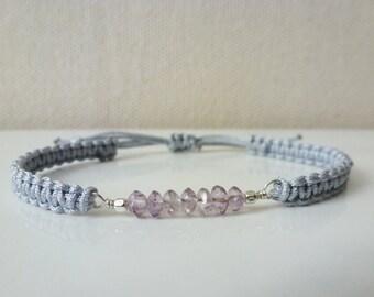 Amethyst Corded Bracelet