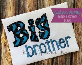 Big Brother Applique Design - Embroidery Machine Pattern