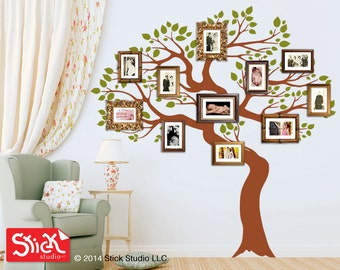 Large family tree decal, Family tree wall sticker