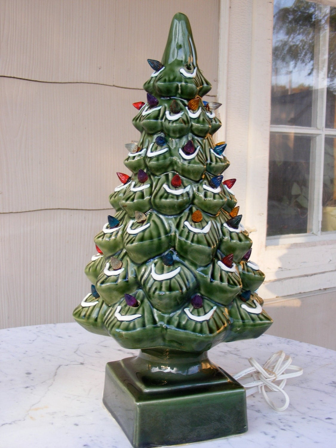 Ceramic Christmas Tree Vintage Holiday Electric By