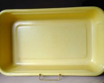 Large Yellow Enamel Baking Pan