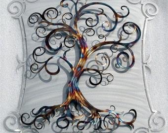 Metal Tree Art Curly Tree