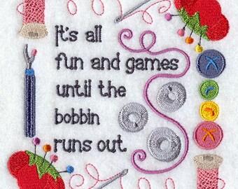 Until the Bobbins PILLOW