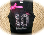 7th zebra birthday shirt. 8th birthday shirt. 9th birthday shirt. kids birthday shirt. girls birthday shirt. princess birthday bling shirt.