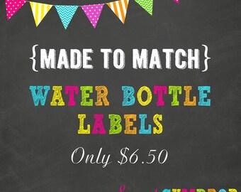 Water Bottle Labels - Printable