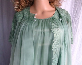 Vintage Peignoir Nightgown Set XS Petite Hand Dyed Boho Lingerie Upcycled Tie Dye Vintage Nightgown Robe Bridal Lingerie Pin Up Lingerie