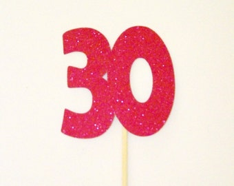 Photo Booth Props Glitter Number 30th Birthday Wedding Anniversary Photobooth Props Beautiful Glitter Colors You Choose! Glitter Number Prop