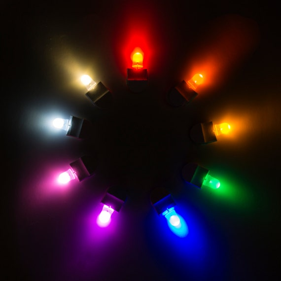 10pcs Colored LED BULB CANDLES for Paper Lanterns