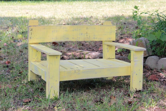 Rustic Reclaimed Wood Chair- Distressed Yellow