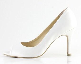 Ivory Wedding Shoes White Wedding Shoes Ivory Bridal Shoes Something Blue Wedding Shoes Custom Color Wedding Shoes (Made To Order)