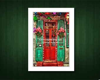 Christmas Cards, French Quarter Scenes, New Orleans cards, Handmade cards, Blank Greeting Cards, Suitable For Framing, Fine Art Cards