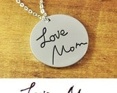 Personalized signature necklace, Handwriting Custom Personalized Necklace, Hand writing Jewelry, Memorial necklace, Mothers Day Gift