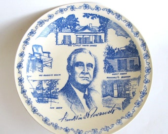 Vernon Kilns Plate -Roosevelt - Little White House