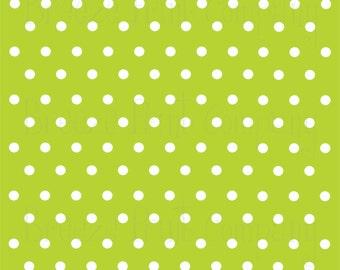 Lime with white polka dots craft  vinyl sheet - HTV or Adhesive Vinyl -  polka dot pattern   HTV6