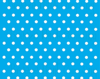 Cyan with white polka dots craft  vinyl sheet - HTV or Adhesive Vinyl -  polka dot pattern   HTV8
