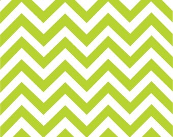 Lime chevron craft  vinyl sheet - HTV or Adhesive Vinyl -  lime green and white large zig zag pattern   HTV102