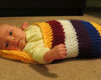 Colourful Striped Baby Cocoon for infant to 3 months