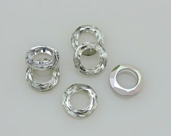 SWAROVSKI® Crystal Frame, Article# 4139 14MM Cosmic Ring, Comet Argent Light(CAL), TWO(2) pcs. Round Donut Cosmic Ring