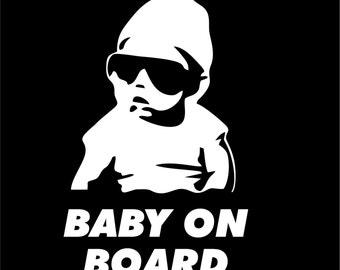 Baby on Board vinyl decal/sticker funny truck car Hangover Carlos